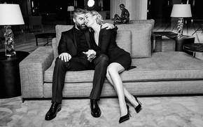 Picture girl, love, joy, male, singer, lovers, Polina Gagarina, Dmitry