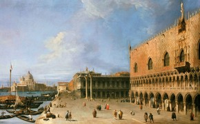 Picture picture, the urban landscape, Canaletto, Molo at the Palace of the Doges in Venice, Giovanni …