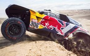 Picture Sand, Auto, Sport, Machine, Race, Peugeot, Red Bull, Rally, Dakar, Dakar, SUV, Rally, Sport, The …