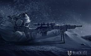 Wallpaper winter, art, soldiers, Tom Clancy`s Rainbow Six: Siege, weapons