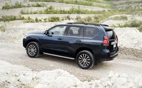 Picture hills, vegetation, SUV, Toyota, 4x4, primer, Land Cruiser, quarry, the five-door
