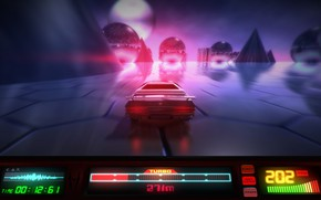 Picture Auto, Neon, Machine, Speed, Background, Graphics, Electronic, Synthpop, Synth, Retrowave, Synth-pop, Sinti, Synthwave, Synth pop
