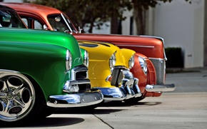 Picture Ford, Chevrolet, retro cars