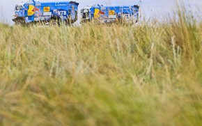 Picture The sky, Nature, Field, Grass, Sport, Speed, Truck, Race, Master, Beauty, Russia, Beast, Kamaz, Rally, …