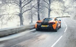 Wallpaper winter, supercar, McLaren 570S