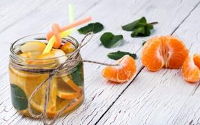 Picture orange, Cocktail, tube, mint