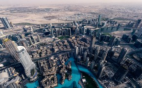 Picture the city, panorama, Dubai, the view from the top