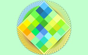Picture green, yellow, colores, cards, mix color