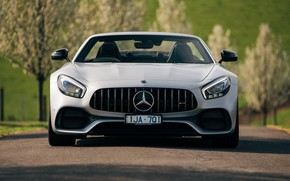 Picture Roadster, Mercedes-Benz, front view, AMG, 2018, GT C