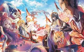 Picture Overlord, armor, big, umbrella, anime, chibi, vampire, manga, oppai, sugoi, cast, small, Sebastian, light novel, …