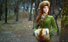 Picture girl, snow, Viktoria Pirker