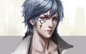 Picture look, portrait, anime, art, guy, Fairy Tail, Jellal Fernandes, Gerard