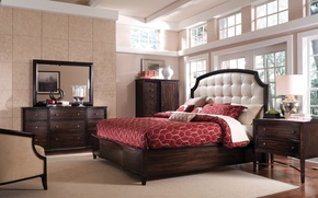 Picture house, room, furniture, Villa, bed, interior, chair, bedroom