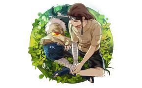 Picture anime, art, Naruto, Hinata, Hyuga, Neji