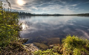 Picture Sky, Coast, Lake, Stones, Vegetation