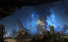 Picture warrior, ruins, Tree of origin