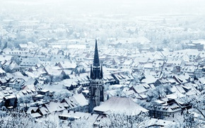 Picture winter, the city, Resin, Wernigerode