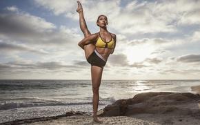 Wallpaper legs, Michelle Janine, female, yoga, pose