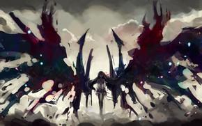 Picture anime, wings, Mahou Shoujo Madoka Magica, Puella Magi Madoka Magica, japonese, bokemono