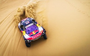 Picture Sand, Auto, Sport, Speed, Race, Peugeot, Red Bull, Rally, Dakar, Dakar, SUV, Rally, Sport, The …