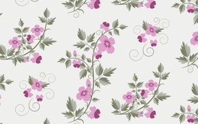 Picture pattern, flowers, texture, floral, with, vector, retro