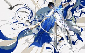 Picture sexy, anime, bow, art, arrow, guy, Archer, Fate stay night, Archer