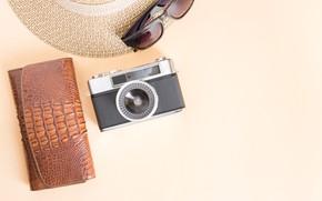 Picture The camera, Hat, Purse
