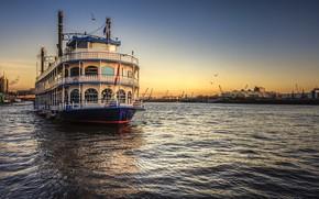 Wallpaper Hamburg, ship, Elbe