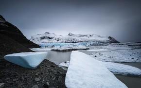 Wallpaper sea, shore, ice