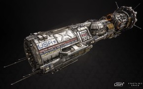 Picture space, transport, ship, Fractured Space, USR Endeavor
