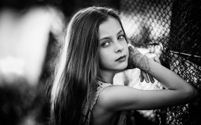Picture portrait, girl, the beauty, BW