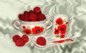 Picture raspberry, Wallpaper, still life, author's photo by Elena Anikina