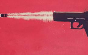 Picture car, cinema, gun, pistol, weapon, movie, film, Baby Driver