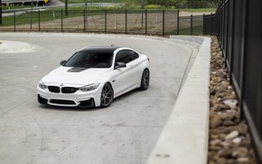 Picture BMW, White, Grid, F82