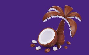 Wallpaper snacks, AJ Jefferies, Palma, chocolate, food, coconut, Cadbury Dairy Milk Icons