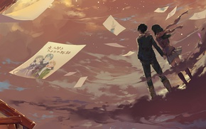 Picture anime, art, letters, A Homeless God, Noragami, Yato, Chieri