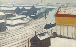 Picture picture, Albert Marquet, Albert Marquet, Montparnasse train Station under the Snow