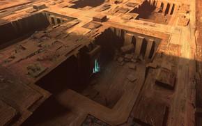 Picture construction, entrance, Sunken Temples