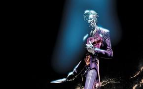 Picture Knife, Smile, Face, Joker, Teeth, Costume, Leather, Mask, Comic, Smile, Joker, Villain, Gift, DC Comics, …
