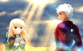 Picture the saber, Archer, Fate stay night, Fate / Stay Night