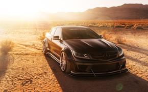 Wallpaper car, desert, Mercedes-Benz