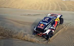Picture Sand, Auto, Sport, Machine, Speed, Race, Peugeot, Red Bull, Rally, Dakar, Dakar, SUV, Rally, Sport, …