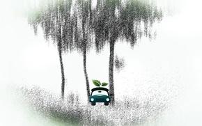 Picture machine, sheet, tree
