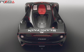 Picture design, car, back, Poison, because concept