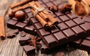 Wallpaper Anis, hazelnuts, chocolate, sweet, cinnamon, tiles