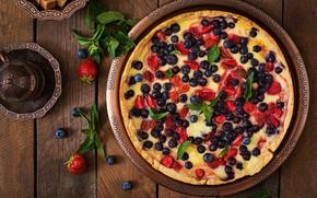 Wallpaper berries, Pie, cakes, mint