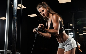 Wallpaper workout, look, female, fitness