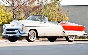 Picture white, 1953, convertible, Fiesta, luxury, Oldsmobile