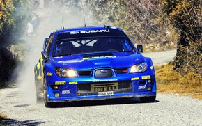 Wallpaper The front, Blue, Rally, Subaru Impreza WRX STI, Car, Subaru, Impreza, Rally, Race, STI, Machine, ...
