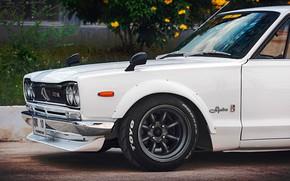Picture Auto, White, Disk, Machine, Wheel, Nissan, Nissan, Lights, Car, 2000, Skyline, Nissan Skyline, 2000GT, Japanese, …